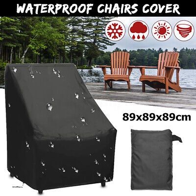 Waterproof Outdoor High Back Patio Stacking Chair Cover Furniture
