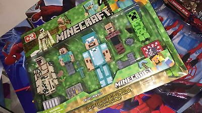 SET 5 PERSONAGGI Minecraft HARDCORE SOPRAVVIVENZA Steve & FRIEND NOVITA ITALIA