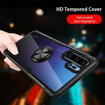 For Huawei P30 Pro Lite P20 Lite Hybrid Rugged Magnetic Stand Ring Clear PC Case