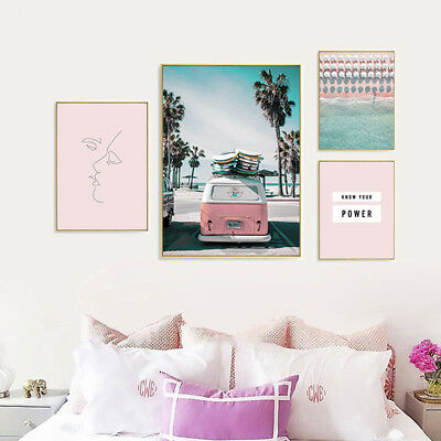Beach Travel Landscape Canvas Poster Wall Art Print Nordic Decoration Picture