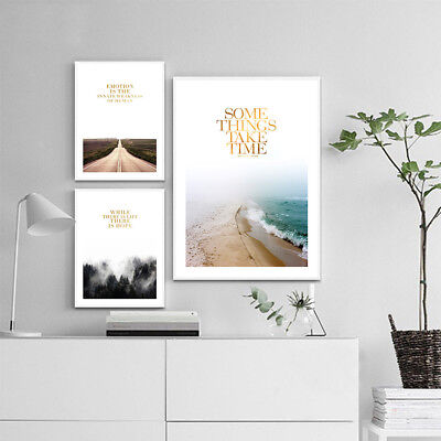 Beach Forest Landscape Canvas Poster Wall Art Print Nordic Decoration Picture