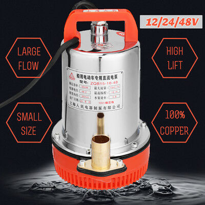 DC 12/24/48V Solar Submersible Water Pump Electric Large Flow For Farm Ranch