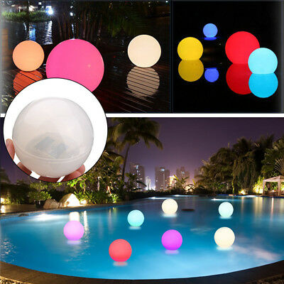Solar Powered LED Floating Ball Light Swimming Pond Pool Outdoor Path Decor