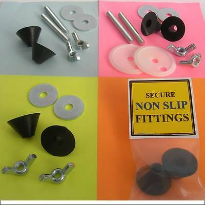 Fits Chrome & Brass Toilet Seat Hinges. Fix Wooden Resin, Plastic, Novelty Seats