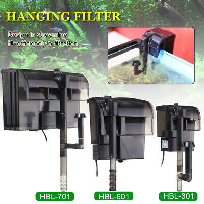 2/5/8W 220V External Hang On Filter Surface Skimmer Mini Aquarium Fish Tank