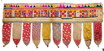Traditional Indian Wall Hanging Vintage Tapestry Door Valance Toran Gate Topper
