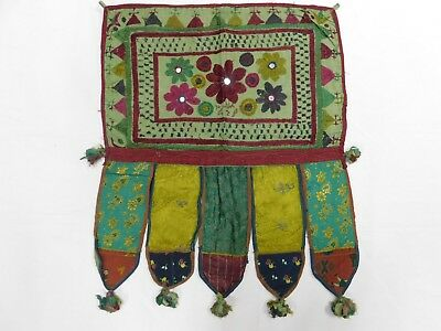 Indian Patchwork Floral wall Hanging Vintage Tapestry Door Topper Gate Toran
