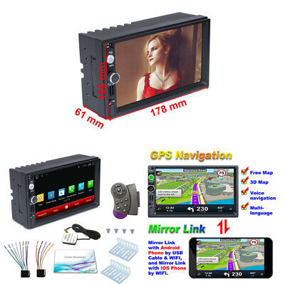 """2 Din 7"""" Android 7.1 Car MP5 Multi-function Player WIFI Hotpot /USB Mirror Link"""