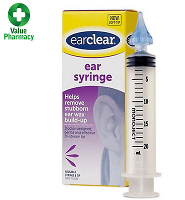 Ear Clear Ear Syringe Wax Remover Build Up Blockage Cleaner