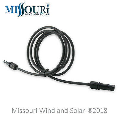 1-6 Pie Panel Solar PV Cable de Extensión MC4 Conectores - 10 Awg Cable - Negro