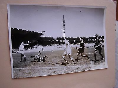 PHOTO ORIGINALE ROBUSCHI 60's BORDEAUX NICE FOOTBALL FRANCE