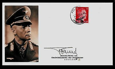 Erwin Rommel Collector's Envelope with genuine 1941 Hitler Postage Stamp *A587