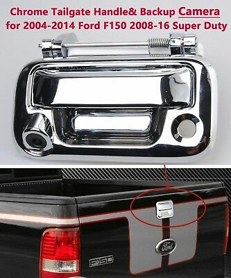 2006-2014 Mark LT 2008-2016 F250 F350 F450 F550 Super Duty NDRUSH Tailgate Handle Bezel with Backup Camera 150 Degree Rear View Reverse Cameras Compatible with 2005-2014 Ford F150