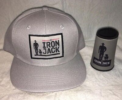 Iron Jack Hat And Stubby Cooler Brand New Promo Gear
