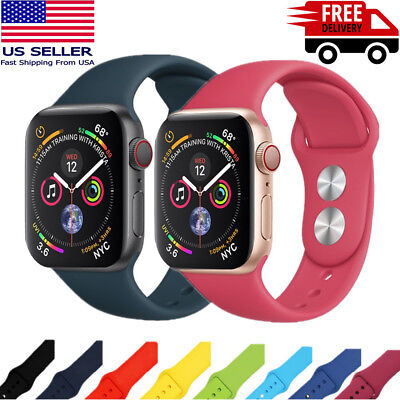 38/42mm Silicone Band Bracelet Strap For Apple Watch iWatch Sports Series 1/2/3