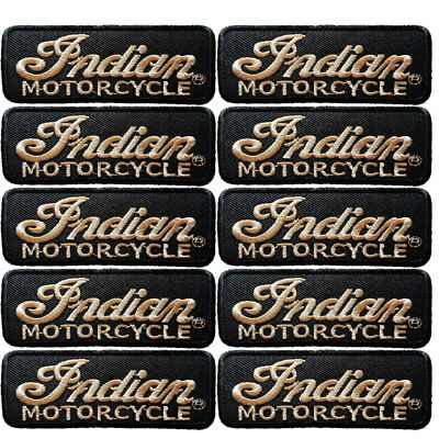 DIY Brown Font INDIAN MOTORCYCLES Racing BIKER Embrodered Iron or Sew On Patch