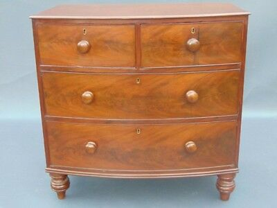 Victorian Mahogany Bowfront Chest of Drawers