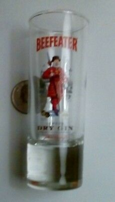 "Beefeater London Dry Gin  Shot Glass Shooter   Measures 4"" Tall"