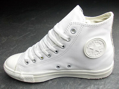 CONVERSE ALL STAR Chucks 38 / 5,5 Braun Beige Weiss Leder ...