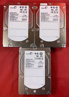 "Lot of 3 Seagate Cheetah ST3450856FC 450GB 15K.6 15000RPM 4.0Gb/s 3.5"" Fibre Cha"