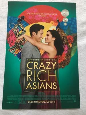 "CRAZY RICH ASIANS - 11.5""x17"" Original Promo Movie Poster MINT 2018"