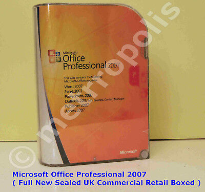 Microsoft Office Professional 2007 - Full New UK Genuine Retail Box (269-10342 )