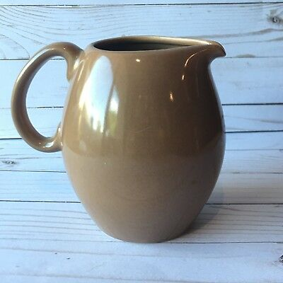 Russel Wright Iroquois Casual China Nutmeg Water Pitcher MCM Dinnerware Vtg