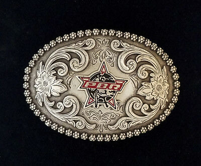 """Vinage Professional Bull Riding Rodeo PBR Logo Childs buckle 2 1/4 X 3"""""""