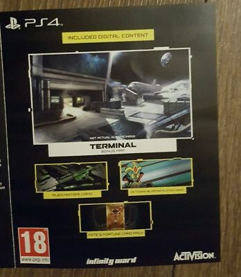 Call of Duty Infinite Warfare DLC PS4-Terminal+Spaceland(Game Pack)NOT FULL GAME