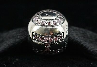 New Authentic Pandora Sterling Silver Pink CZ Surrounded By Hope Charm 791418PCZ