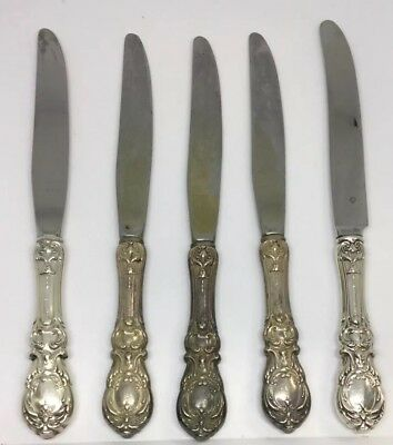 Reed & Barton Francis I Sterling Silver Dinner Knife 8 3/4in. Set Of 5