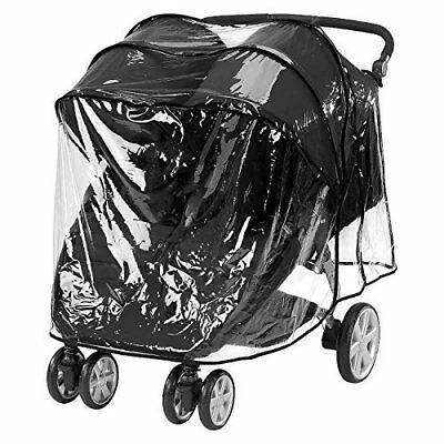 Comfy Baby Jogging Double Stroller Weathershield Rain Cover/Wind Shield