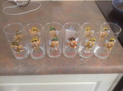 Capilano Honey Bee Collectable Drinking Glasses - Set Of Six