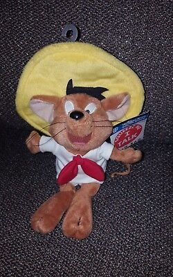 Speedy Gonzales Squeeze me I Talk Bean Bag Plush WARNER BROTHERS New with Tags
