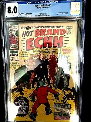 Not Brand Echh #1 (Marvel Aug67) Cgc Grade 8.0 White Pages Forbush Man!!