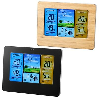 Digital Indoor & Outdoor Wireless Weather Station Calendar Thermometer Clock USB