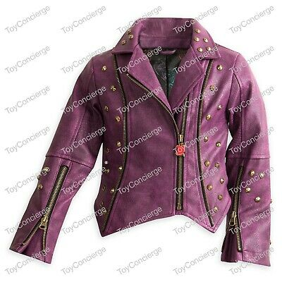 DISNEY Store DESCENDANTS 2 FAUX LEATHER MOTO JACKET for Girls Pick Size NWT