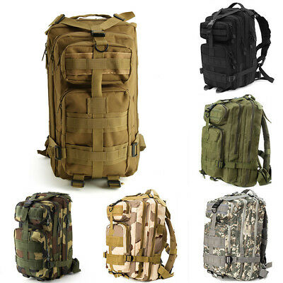 Military 30L Tactical Army Backpack Rucksack Camping Hiking Trekking Bag Outdoor