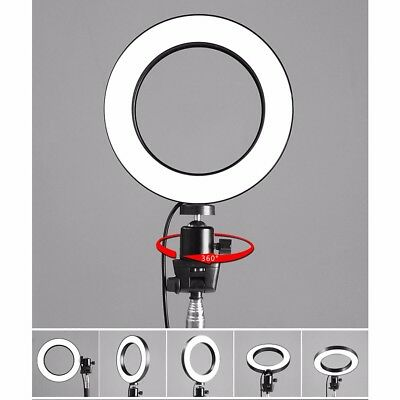 LED 3 Modes 40W 5500K Dimmable Photographic Studio Ring Light Selfie Photography