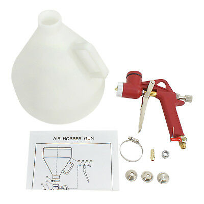 Drywall Texture Hopper Air Sprayer Gun Tool 3 Spray Nozzles Wall Ceiling
