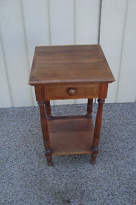59628   Antique Mahogany Nightstand End Table Stand
