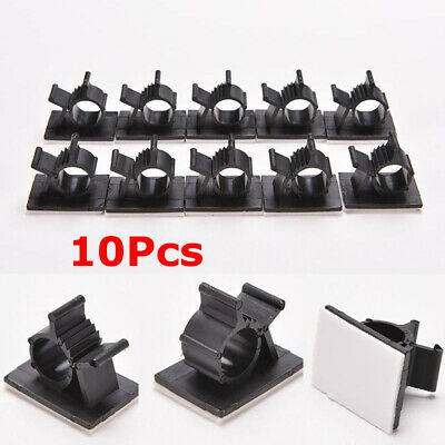 10Pcs Cable Clips Adhesive Cord Management Wire Holder Organizer Clamp Fastener