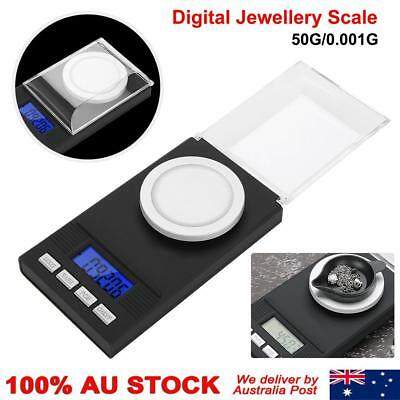 50g High Precision Digital Pocket Scales Jewellery Electronic Milligram 0.001g