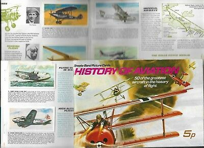 Album Full Set 50  History Of Aviation Brooke Bond  44Yrs Cigarette Cards