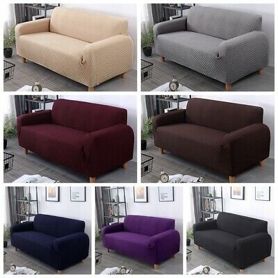 Stretch Elastic 1/2/3/4 Seater Sofa Couch Cover Slipcover L Shape Protector
