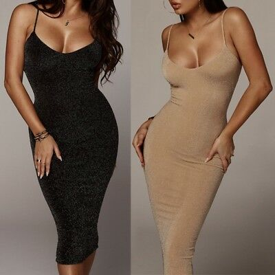 Sexy Women Spring Summer Solid Color Backless Sleeveless Bodycon Slip Maxi Dress