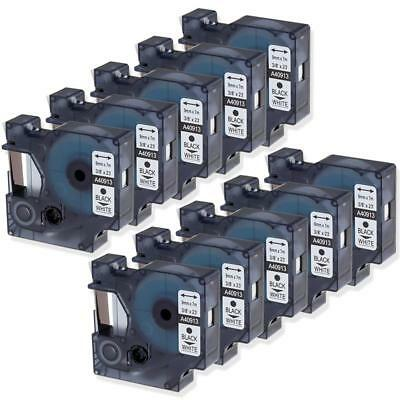 10PK 45013 S0720530 Compatible for Dymo Label Tape D1 12mm LabelManager 160 200