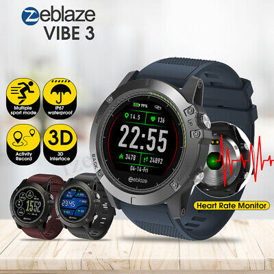 Zeblaze VIBE 3 HR Waterproof Heart Rate Monitor Sports Smart Watch Android IOS