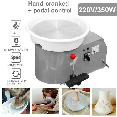 30CM Electric Pottery Wheel Ceramic Machine For Work Clay Art Craft 220V 350W
