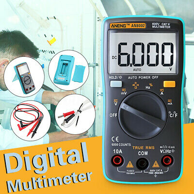ANENG AN8002 Digital Ture RMS 6000 Counts Multimeter Temperature Tester